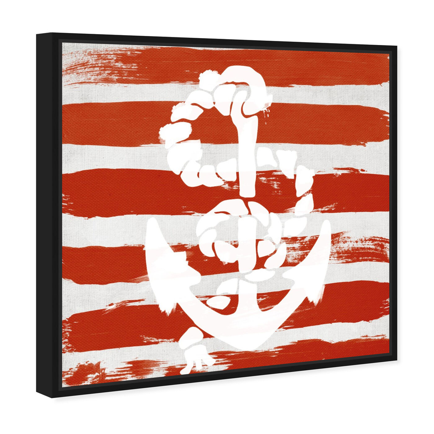 Angled view of Anchored to the Ocean featuring nautical and coastal and nautical watercrafts art.