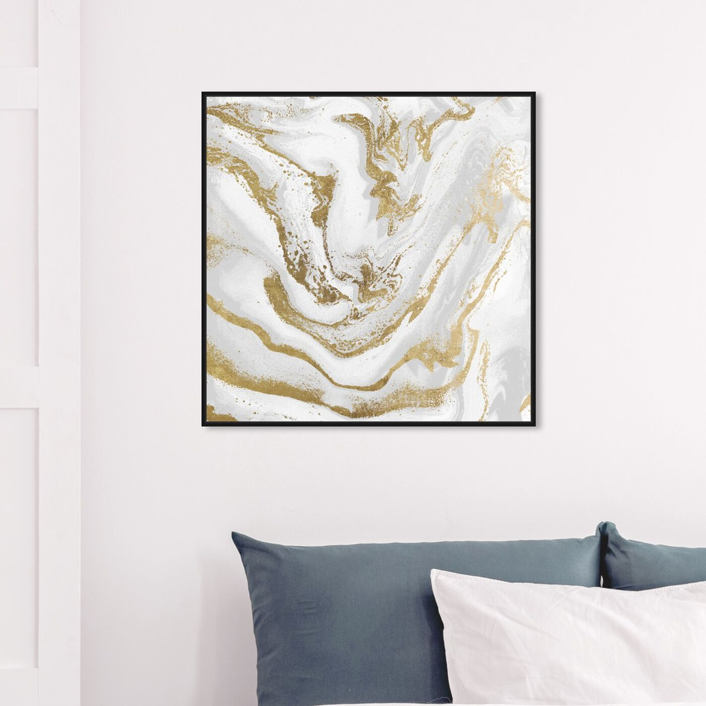 Hanging view of Marbellized Beauty Day featuring abstract and crystals art.