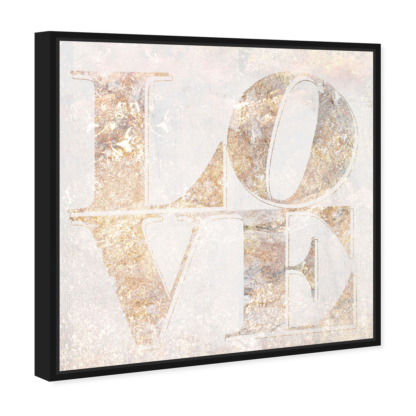 Angled view of Build on Love Champagne featuring typography and quotes and love quotes and sayings art.