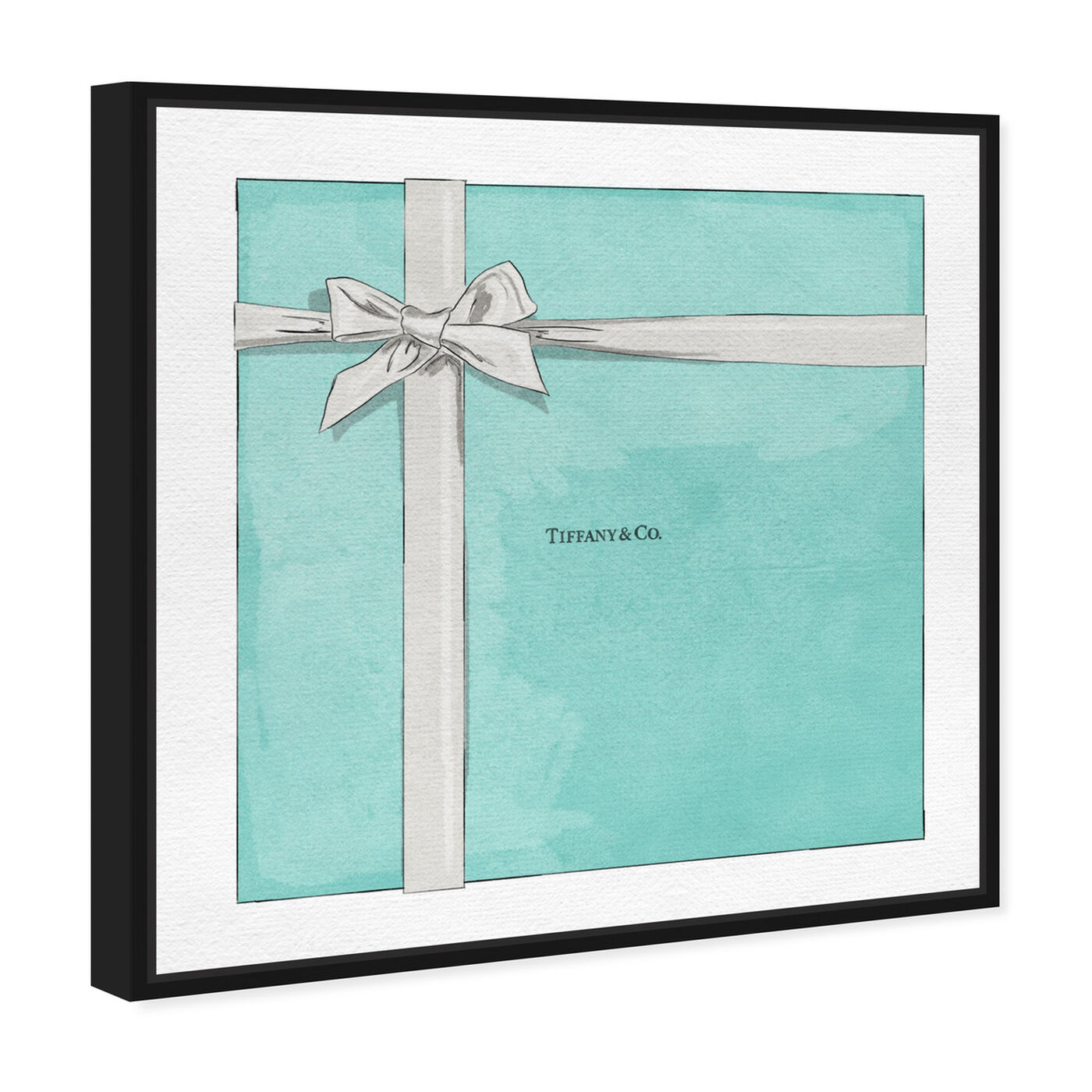 Angled view of Jewelry Gift Box Blue featuring fashion and glam and jewelry art.