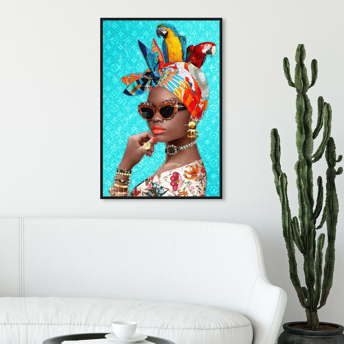Hanging view of I see you featuring fashion and glam and portraits art.