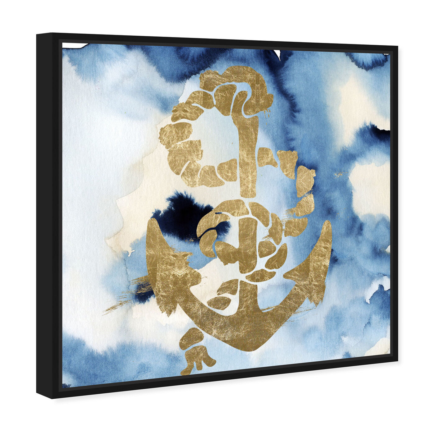 Angled view of Anchors Away! featuring nautical and coastal and nautical watercrafts art.