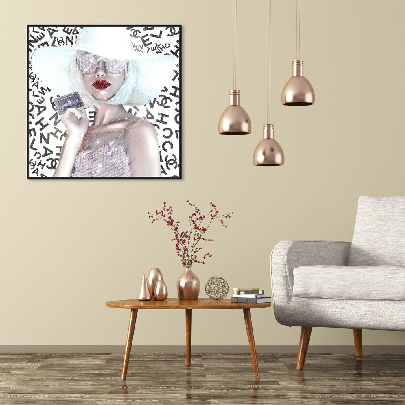Hanging view of Black Card is my Business Card featuring fashion and glam and accessories art.