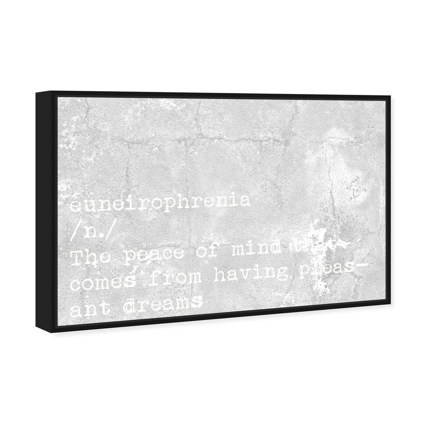 Angled view of Pleasant Dreams featuring typography and quotes and motivational quotes and sayings art.