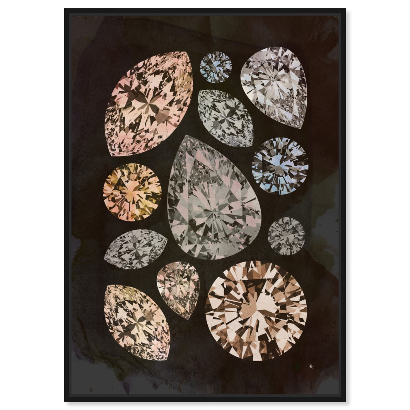 Front view of Autumn Stones featuring abstract and crystals art.