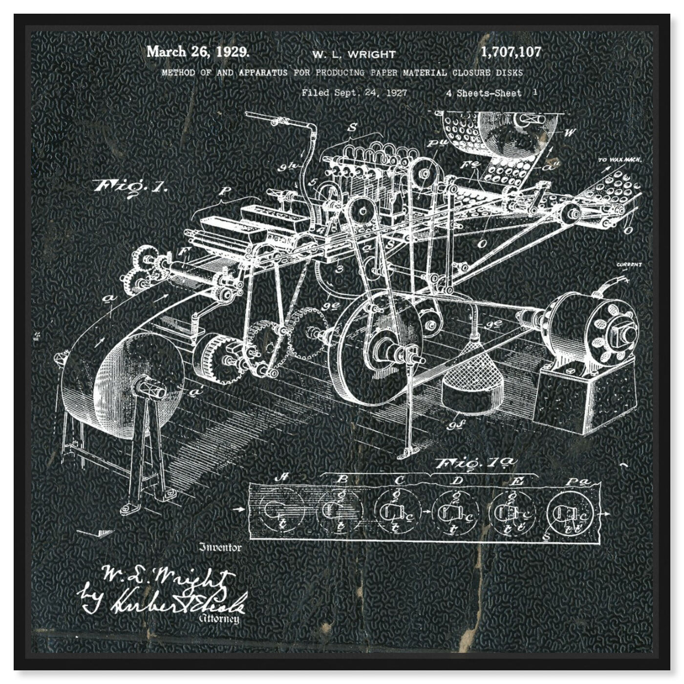 Front view of Paper Production 1929 featuring transportation and automobiles art.