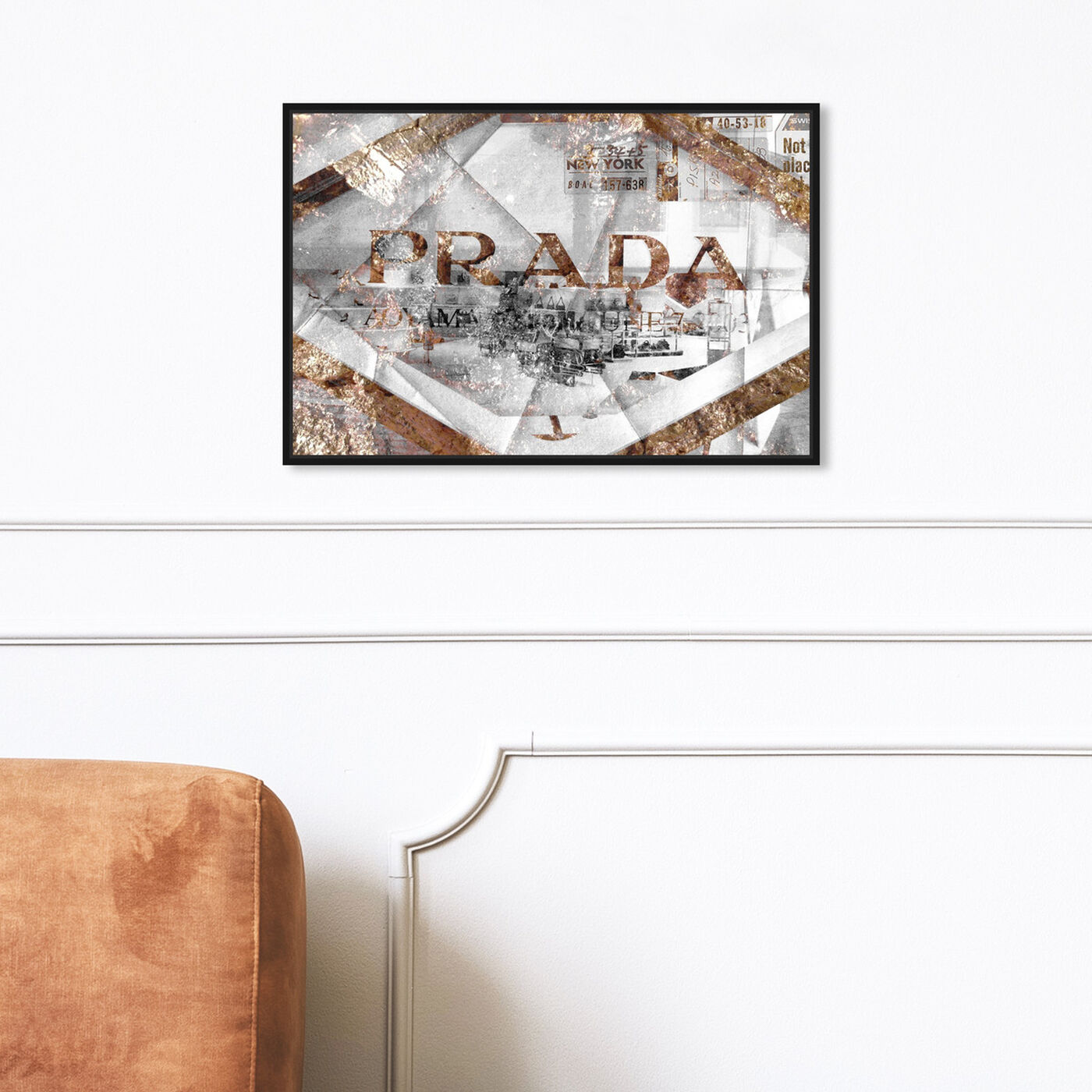 Hanging view of The Eye of Gold featuring fashion and glam and road signs art.