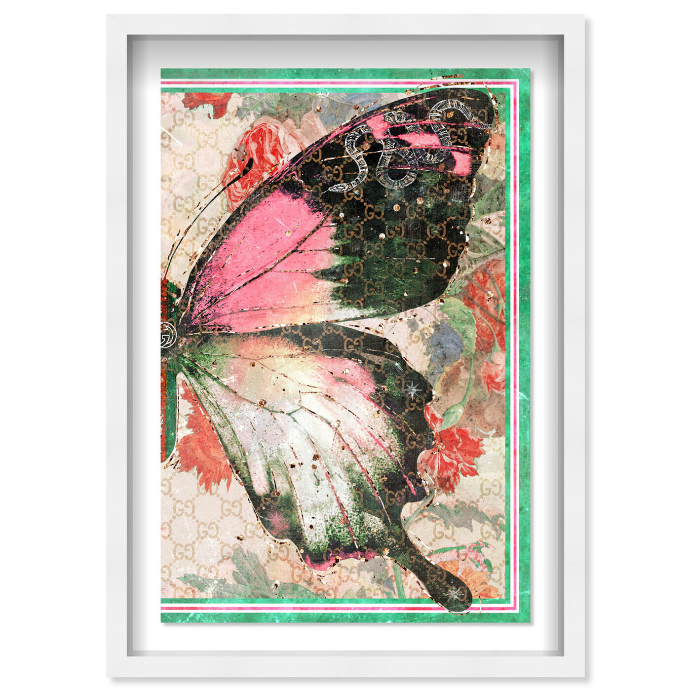Front view of Butterfly Effect Symbol II featuring animals and insects art.