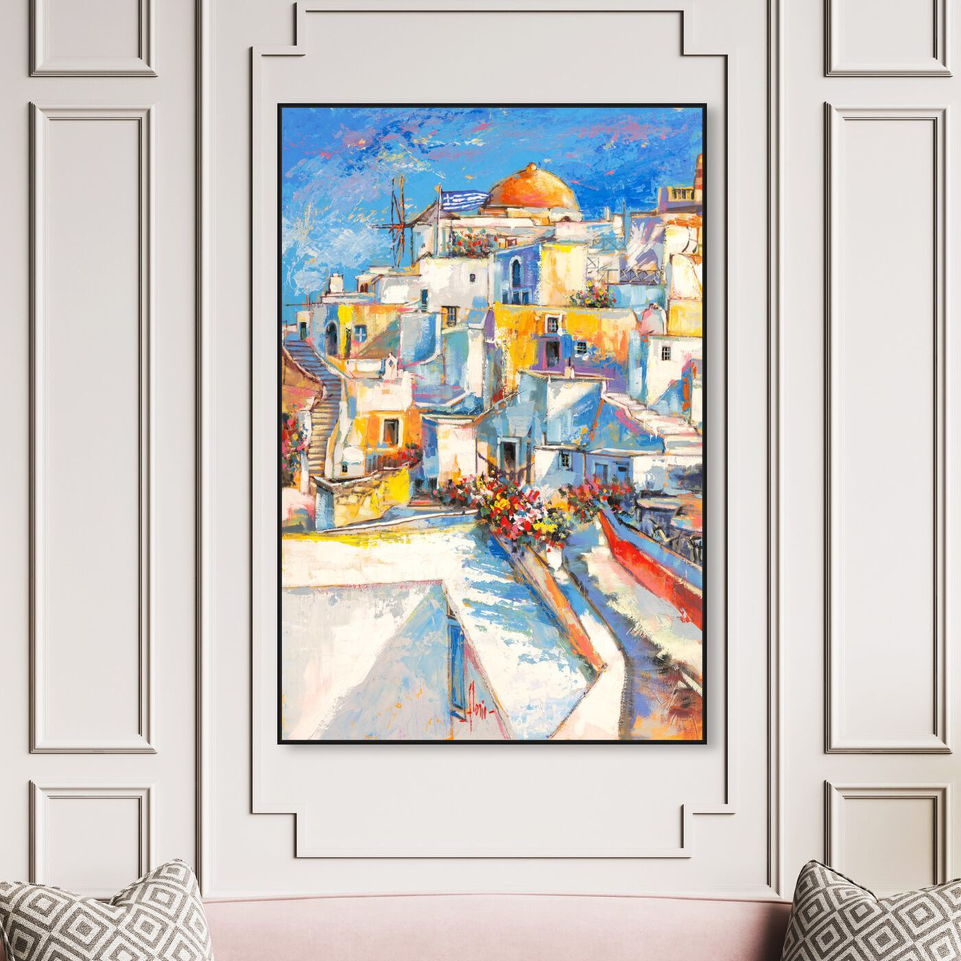 Hanging view of Sai - Oppidum Laetus 3LR2549 featuring cities and skylines and european cities art.