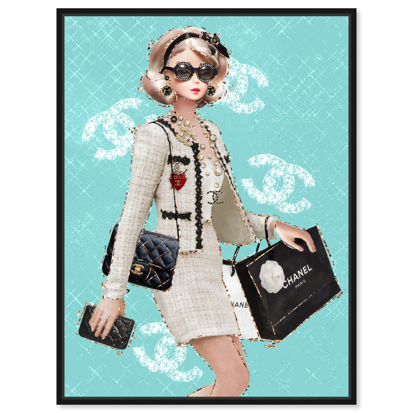 Front view of Breakfast Where? featuring fashion and glam and dolls art.