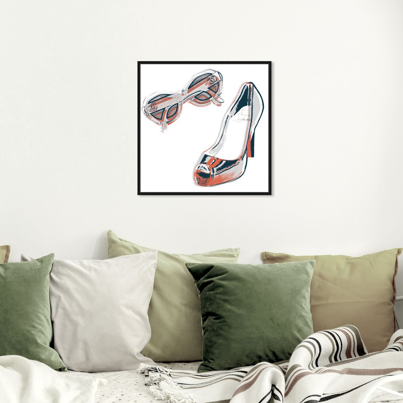 Hanging view of All She Needs featuring fashion and glam and accessories art.