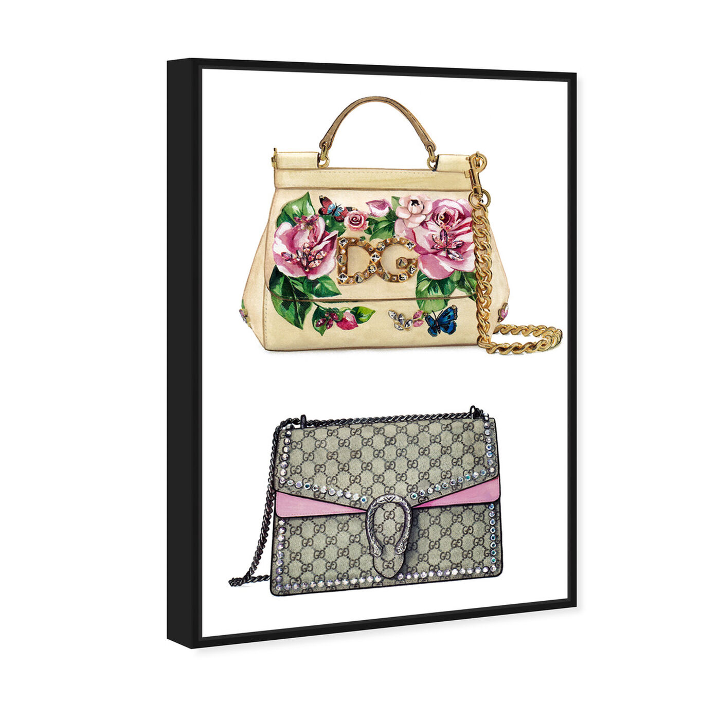 Angled view of Doll Memories - My Favorite Bag featuring fashion and glam and handbags art.