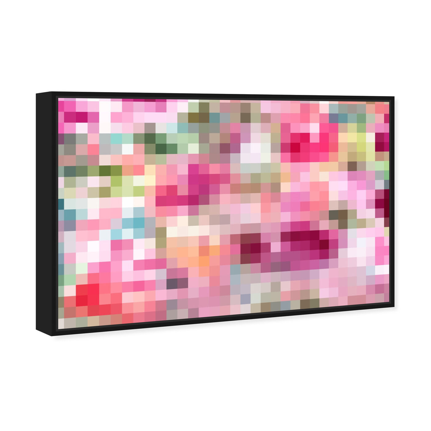 Angled view of Pixel Garden featuring abstract and textures art.