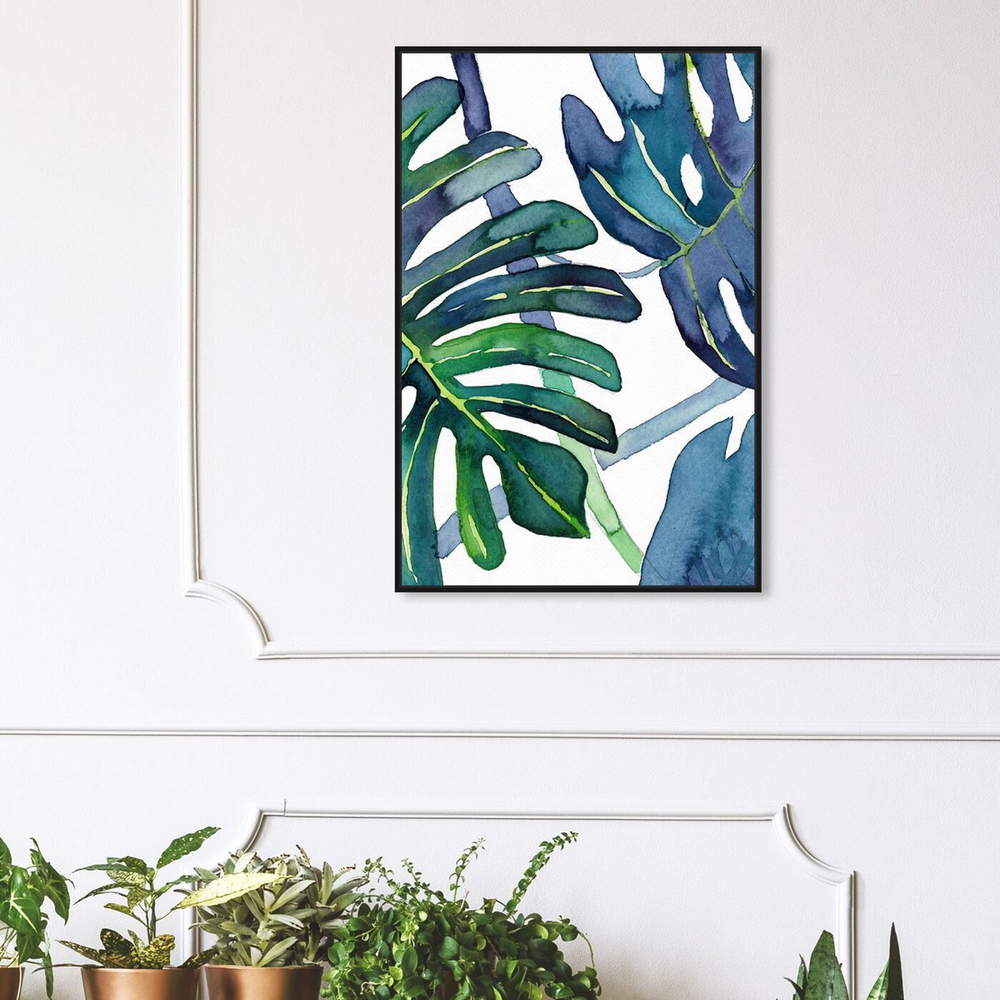 Hanging view of Ferns featuring floral and botanical and botanicals art.