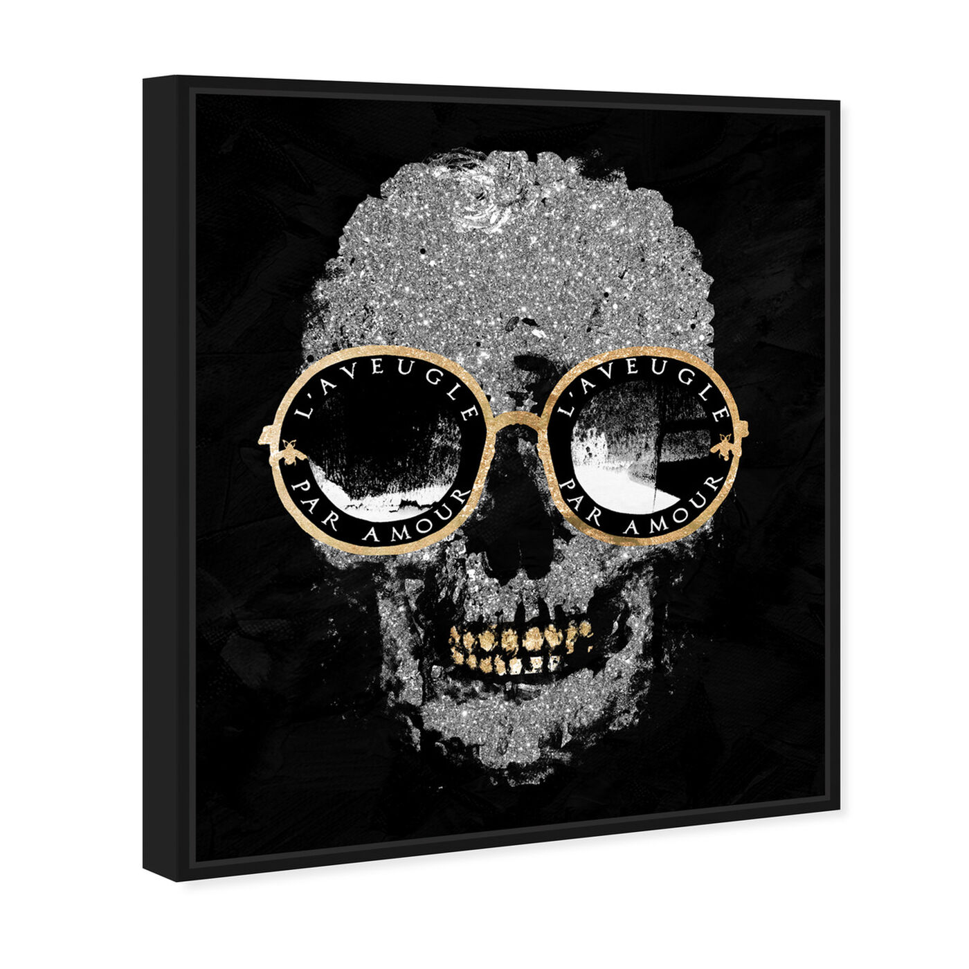 Angled view of Razz-Dazz Denticles Shades and Skull featuring fashion and glam and accessories art.