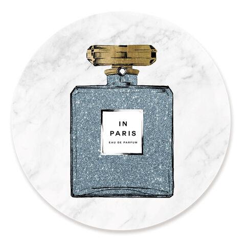 Paris Blue Perfume Marble Circle