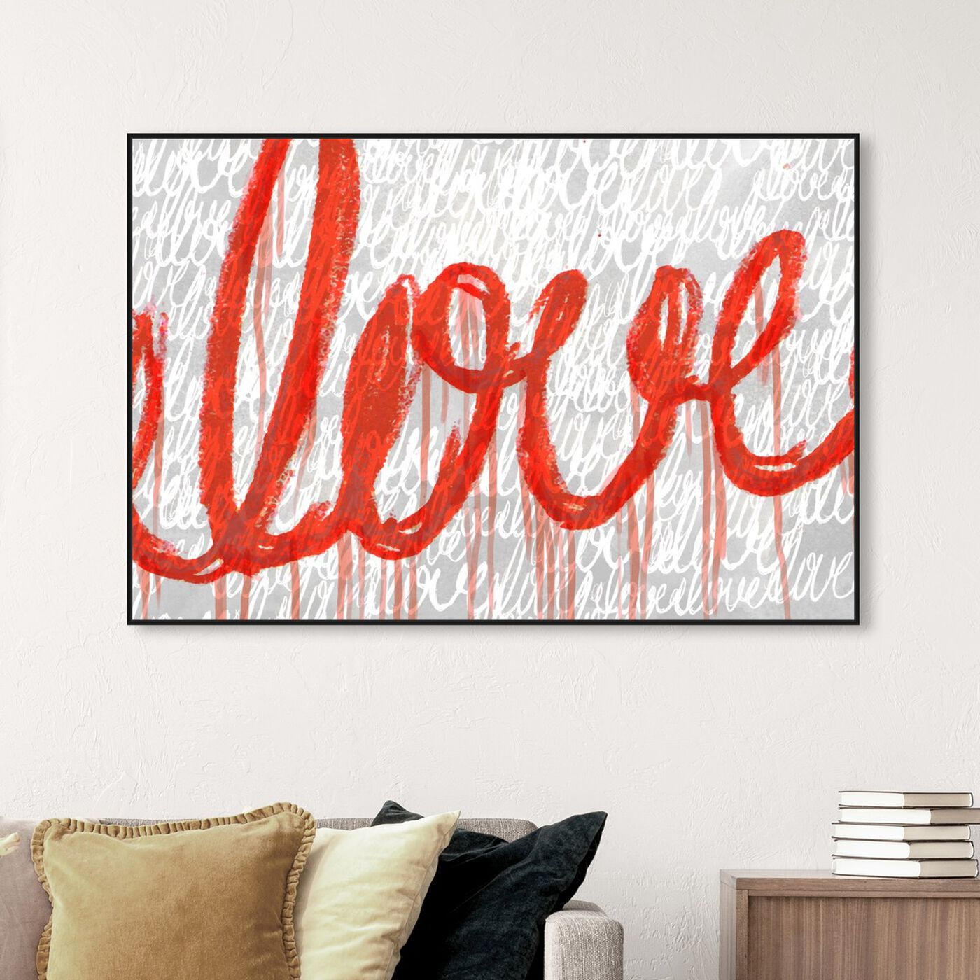 Hanging view of Round and Round featuring typography and quotes and love quotes and sayings art.
