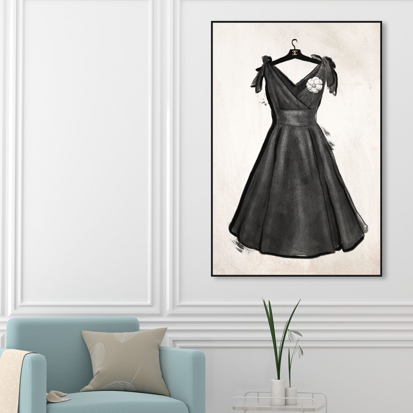 Hanging view of Little Black Dress II featuring fashion and glam and dress art.