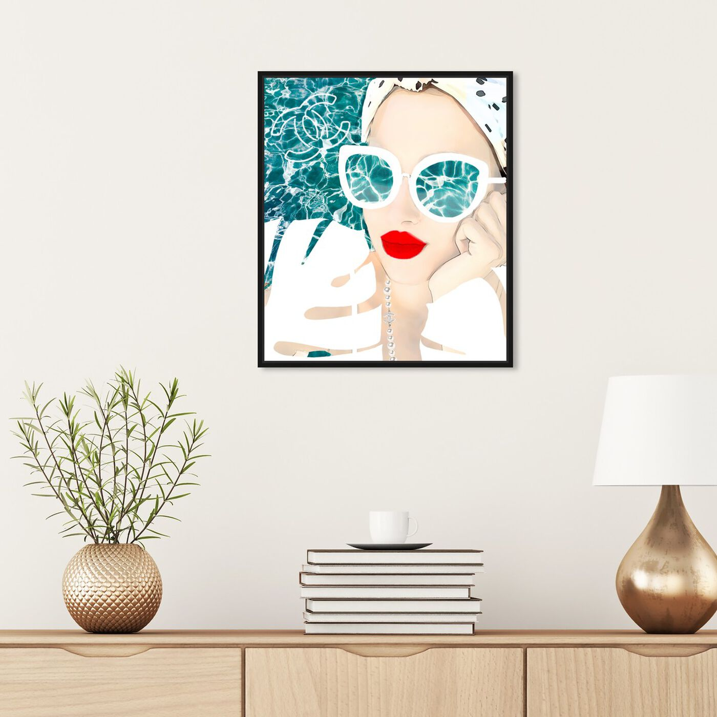 Hanging view of MariPily in White featuring fashion and glam and accessories art.