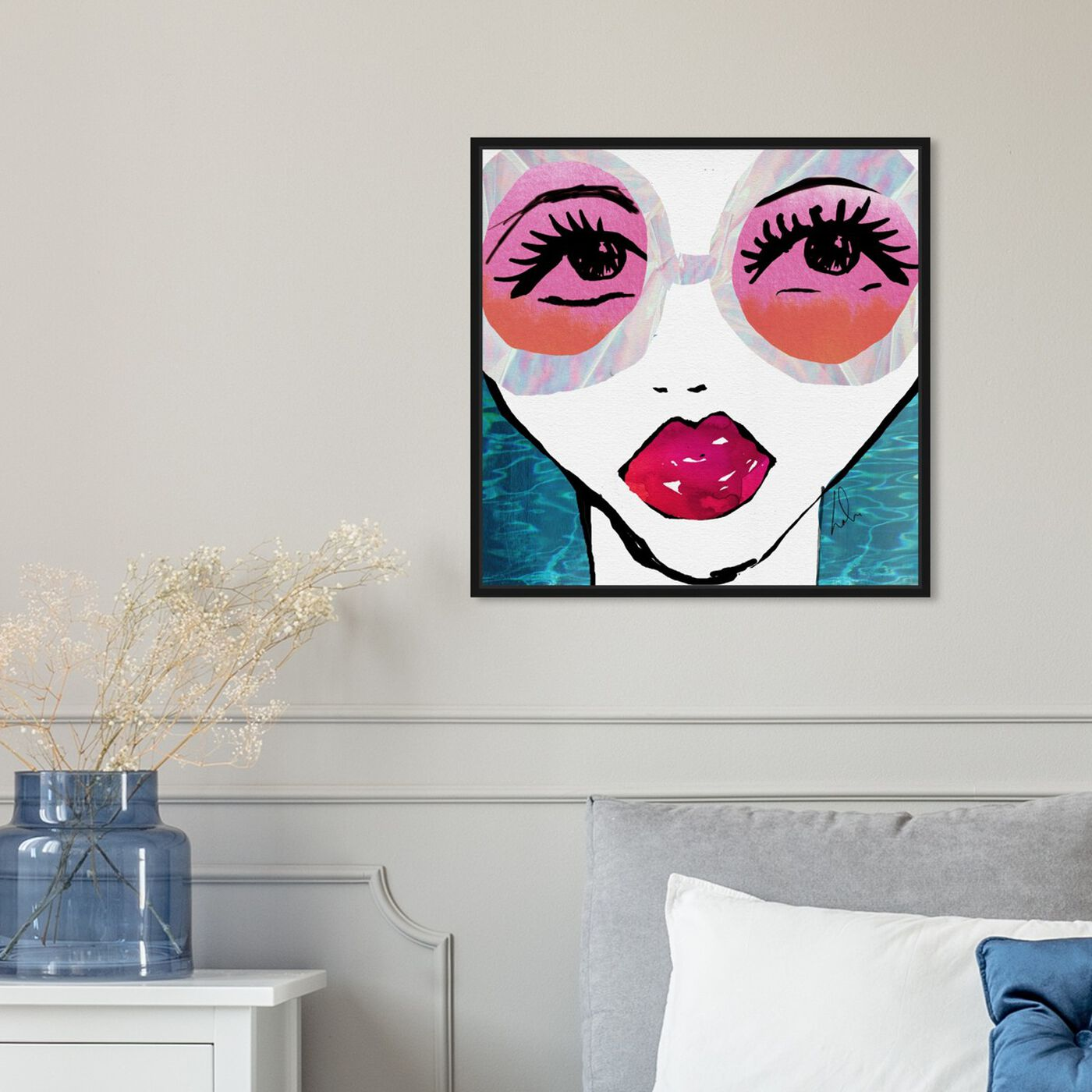 Hanging view of Ready For The Water I featuring fashion and glam and portraits art.