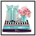 Front view of Modestly Aquamarine Display featuring fashion and glam and shoes art. image number null