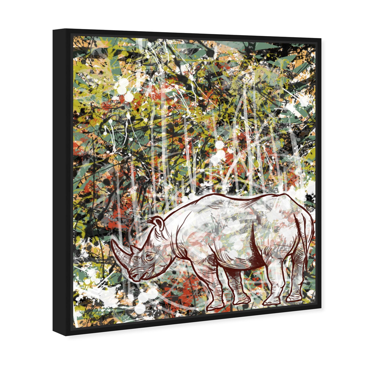 Angled view of Wild featuring animals and zoo and wild animals art.