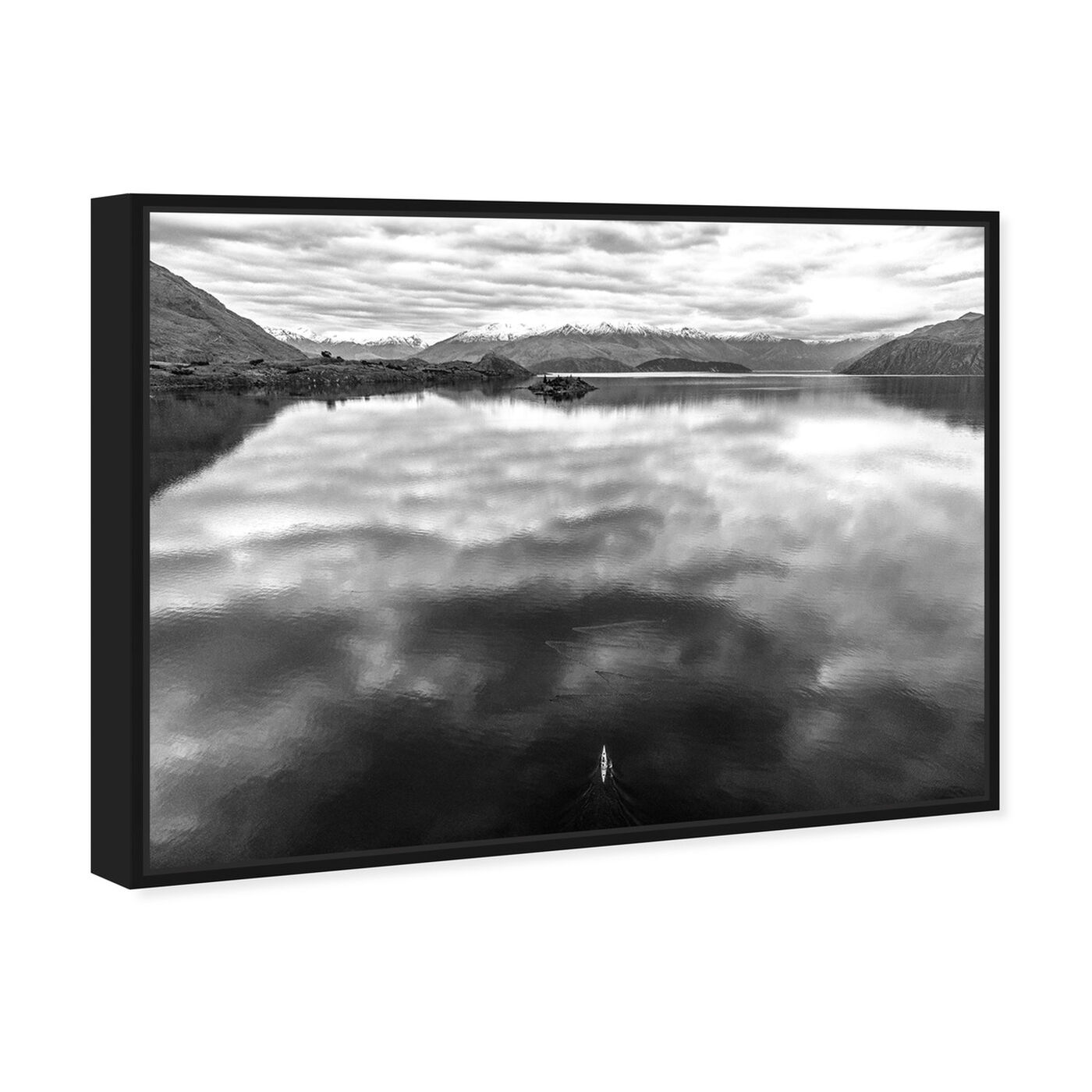 Angled view of Curro Cardenal - Rowing Noir featuring nature and landscape and nature art.