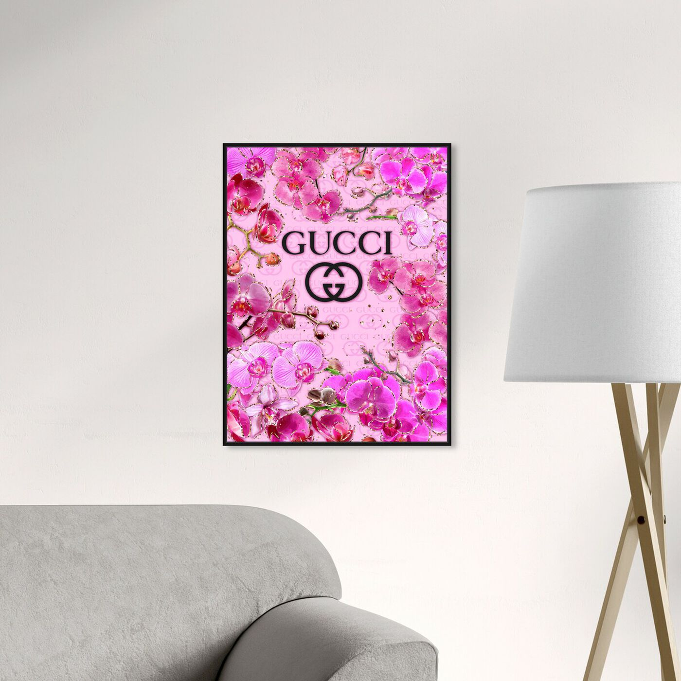 Hanging view of The Orchid Garden featuring floral and botanical and florals art.