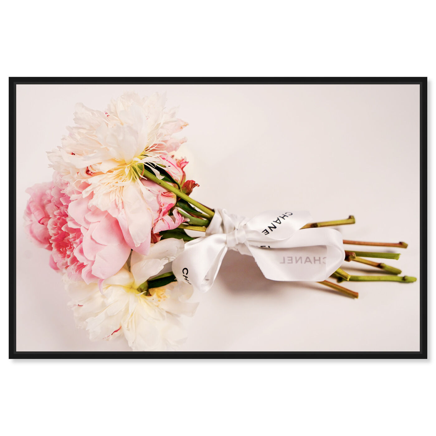 Front view of Bouquet of Peonies featuring floral and botanical and florals art.