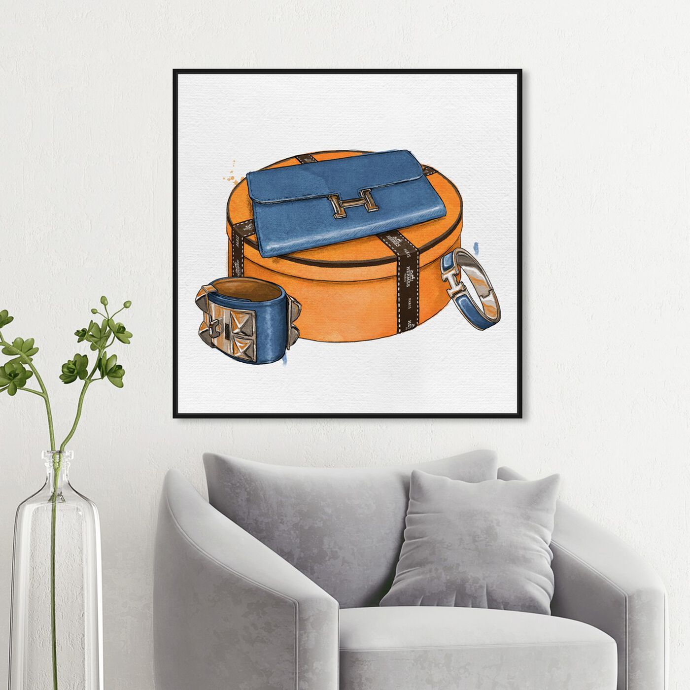 Hanging view of My Bag Collection V featuring fashion and glam and handbags art.