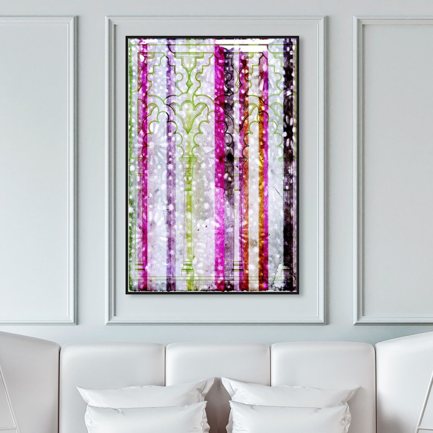 Hanging view of Sevilla Neon featuring abstract and textures art.