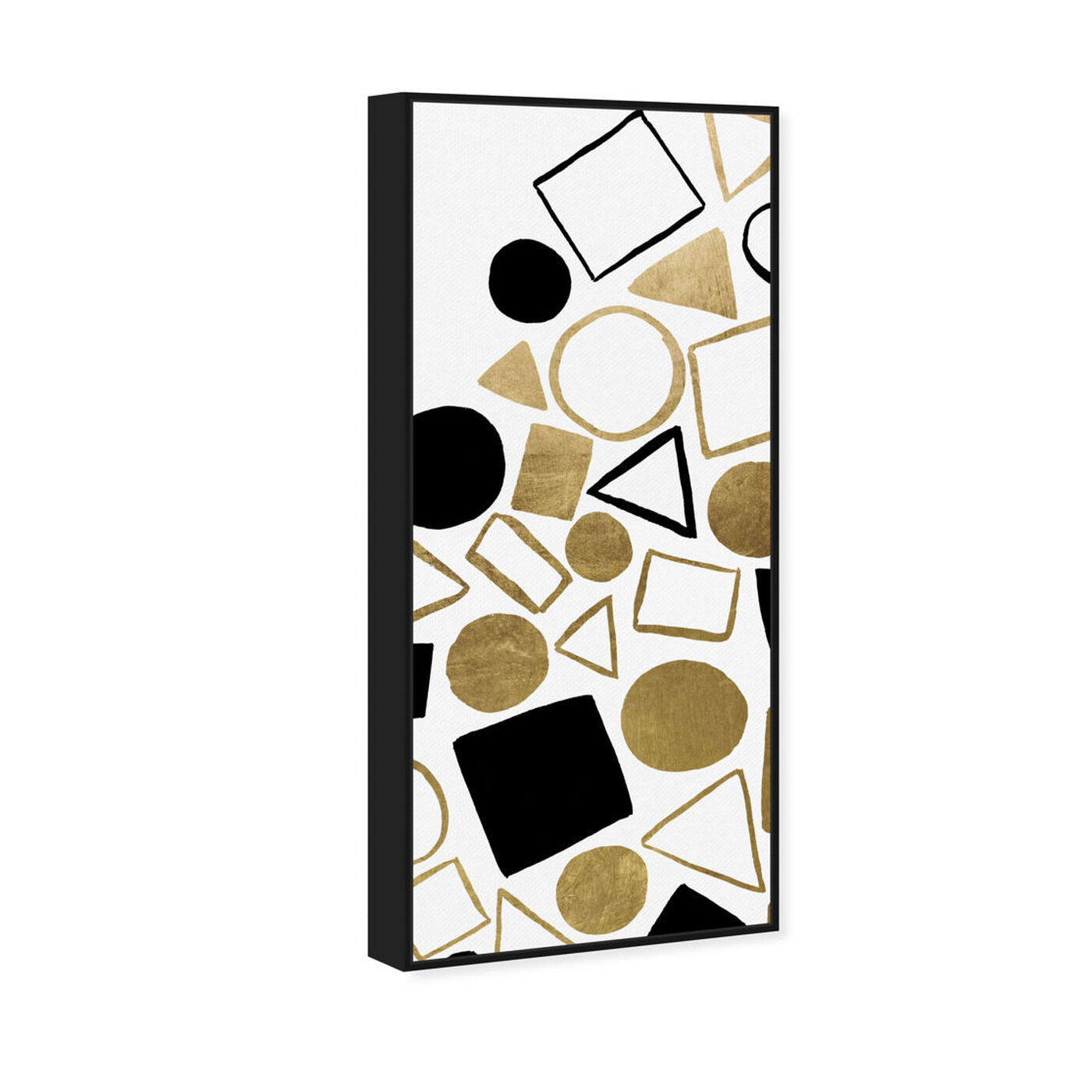 Angled view of Geometric Game featuring abstract and geometric art.