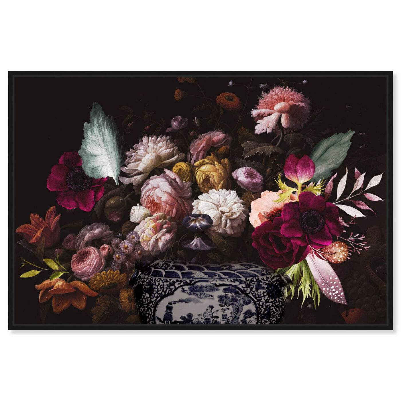 Front view of Colorful Classical Bouquet featuring floral and botanical and florals art.