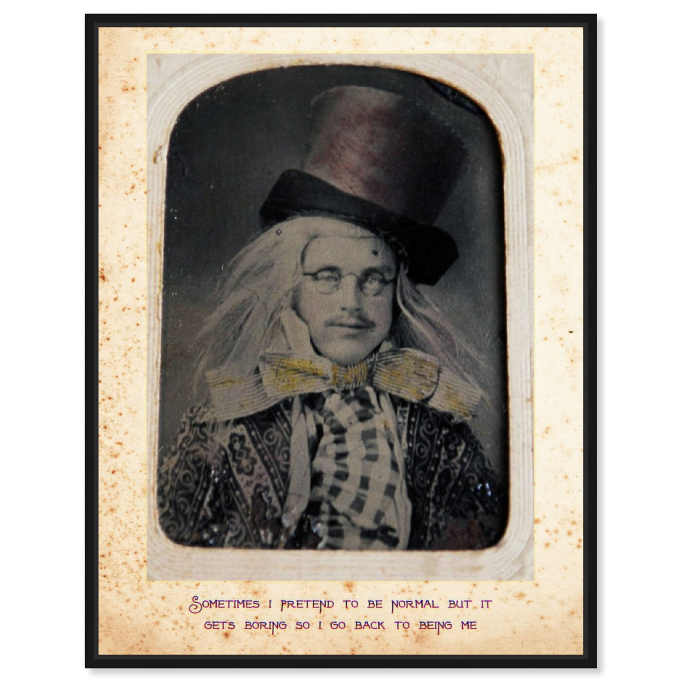 Front view of Mad Hatter featuring people and portraits and fictional characters art.