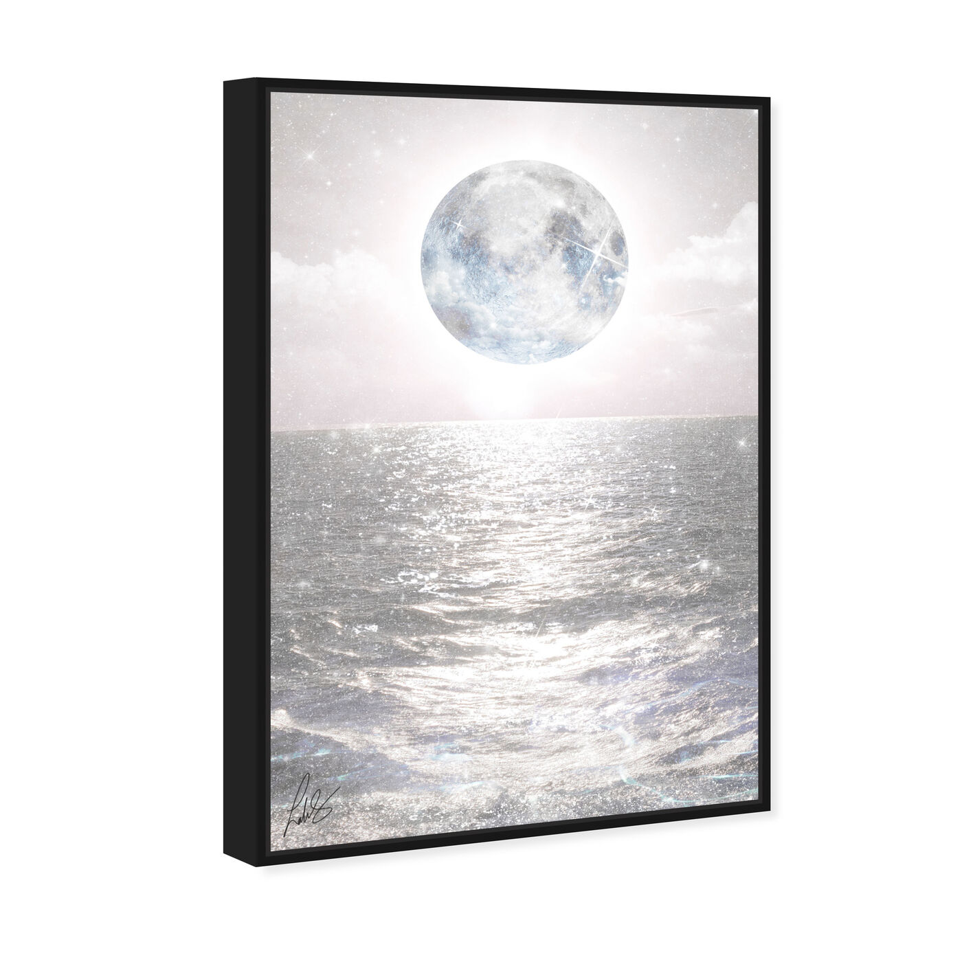Angled view of Mykonos Moon featuring astronomy and space and moons art.