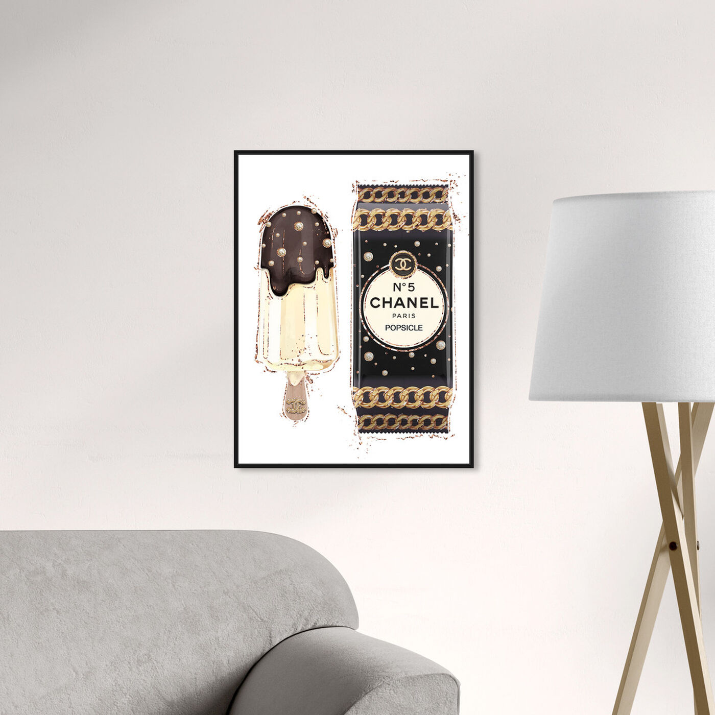 Hanging view of Sweet Fashion Chocolate I featuring fashion and glam and jewelry art.