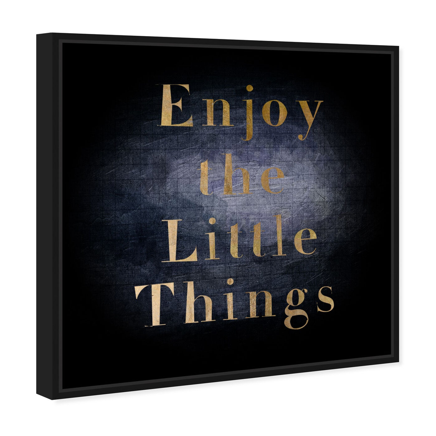 Angled view of All Small Things featuring typography and quotes and inspirational quotes and sayings art.