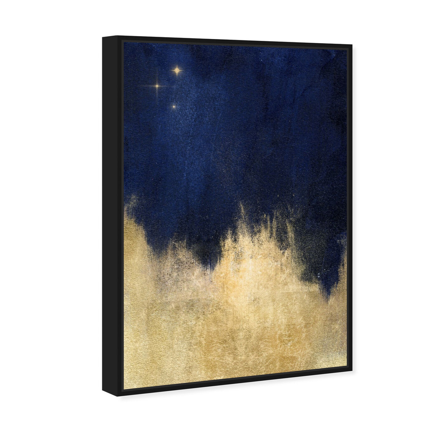 Angled view of Stars at Midnight featuring abstract and paint art.