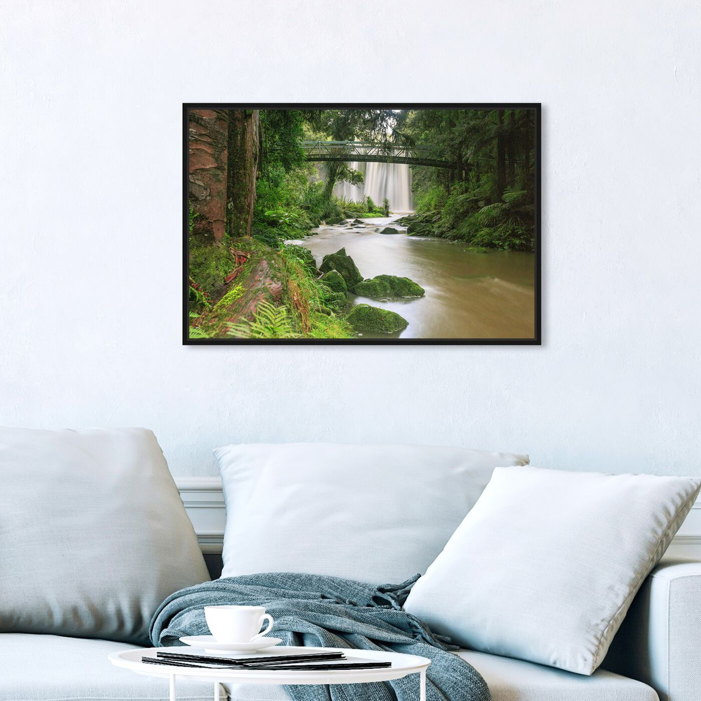 Hanging view of Curro Cardenal - Rainforest III featuring nature and landscape and nature art.