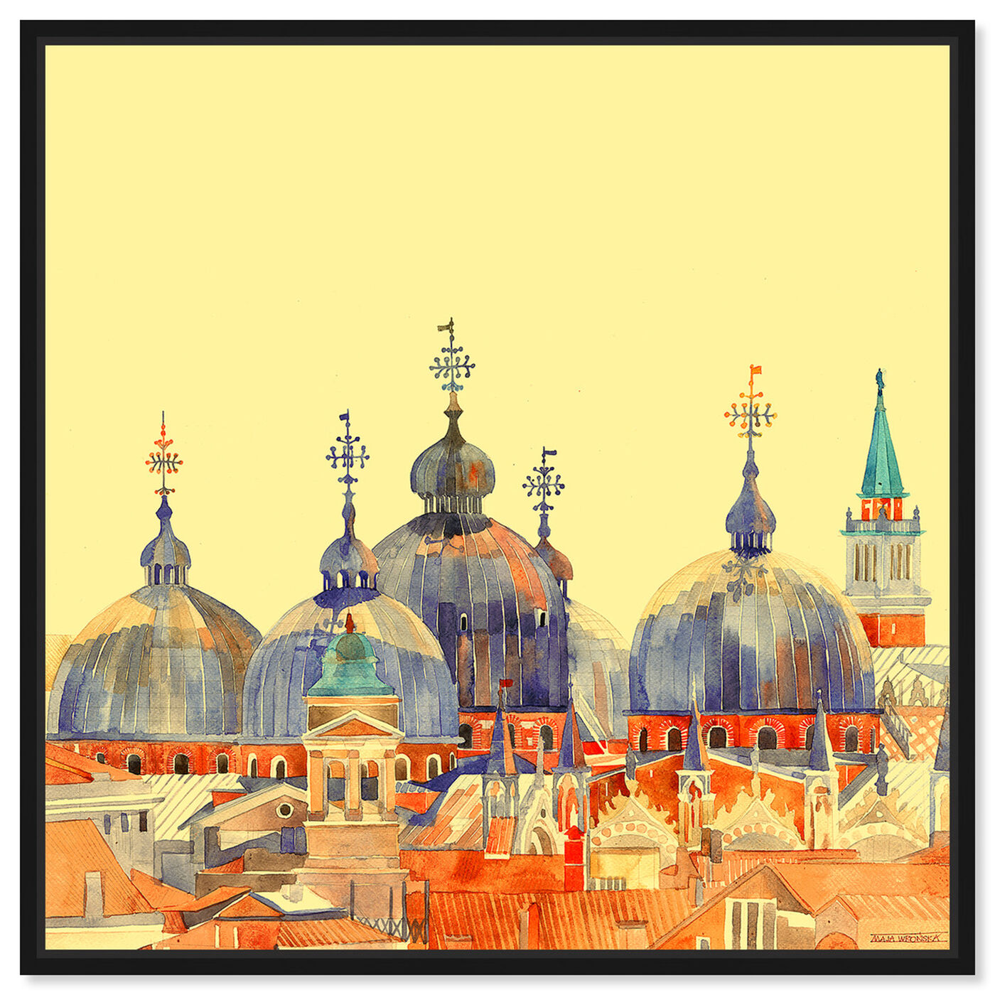 Front view of Maja Wronska - Rooftop City Scape featuring cities and skylines and world cities art.