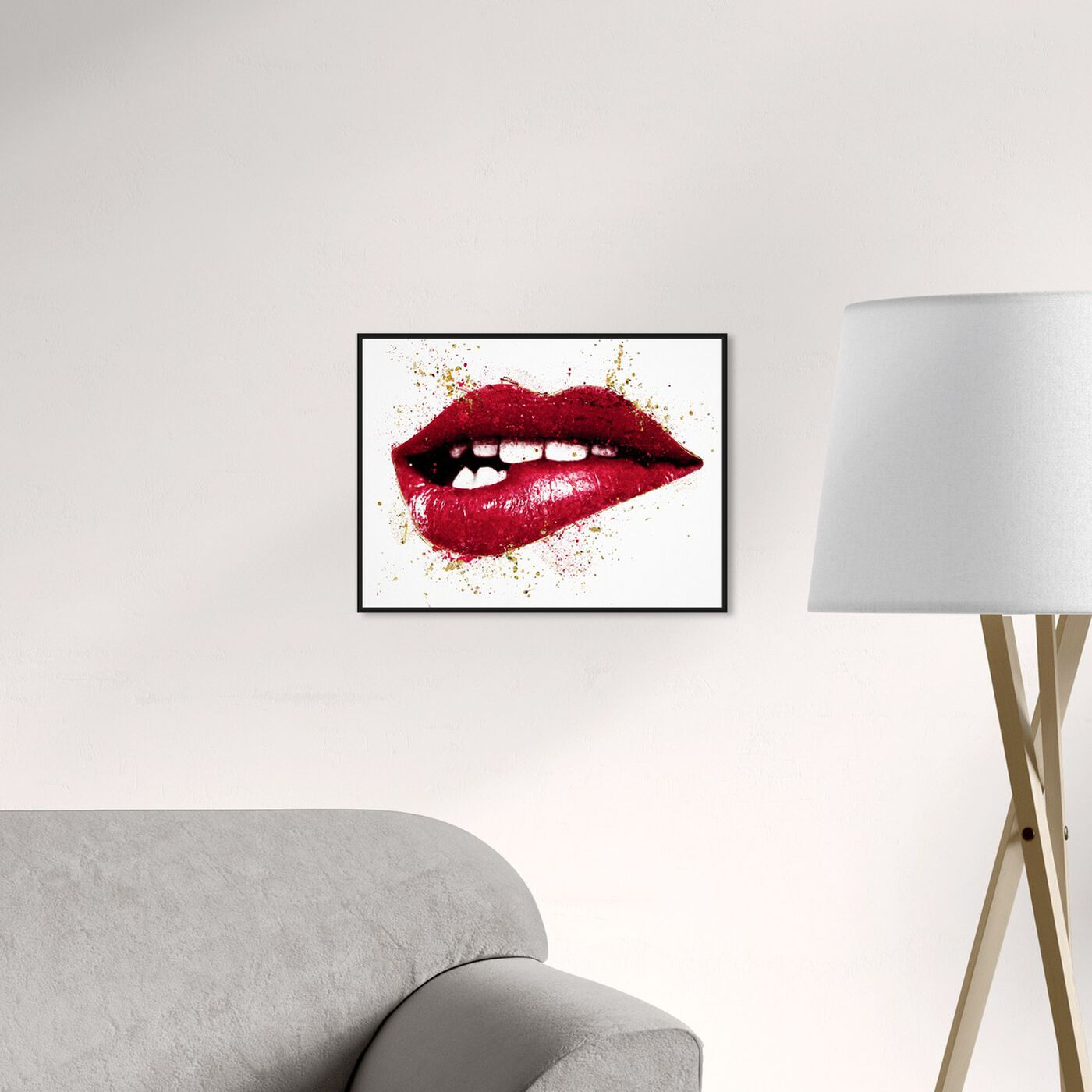 Hanging view of Rouge Lip Bite featuring fashion and glam and lips art.