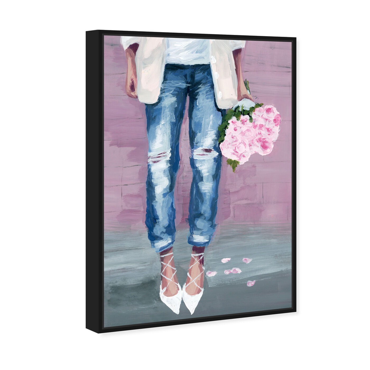 Angled view of Fashion Blogger Flowers featuring fashion and glam and outfits art.