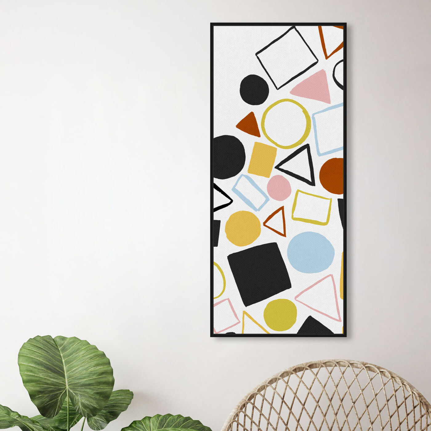 Hanging view of Geometric Game Colorful featuring abstract and geometric art.