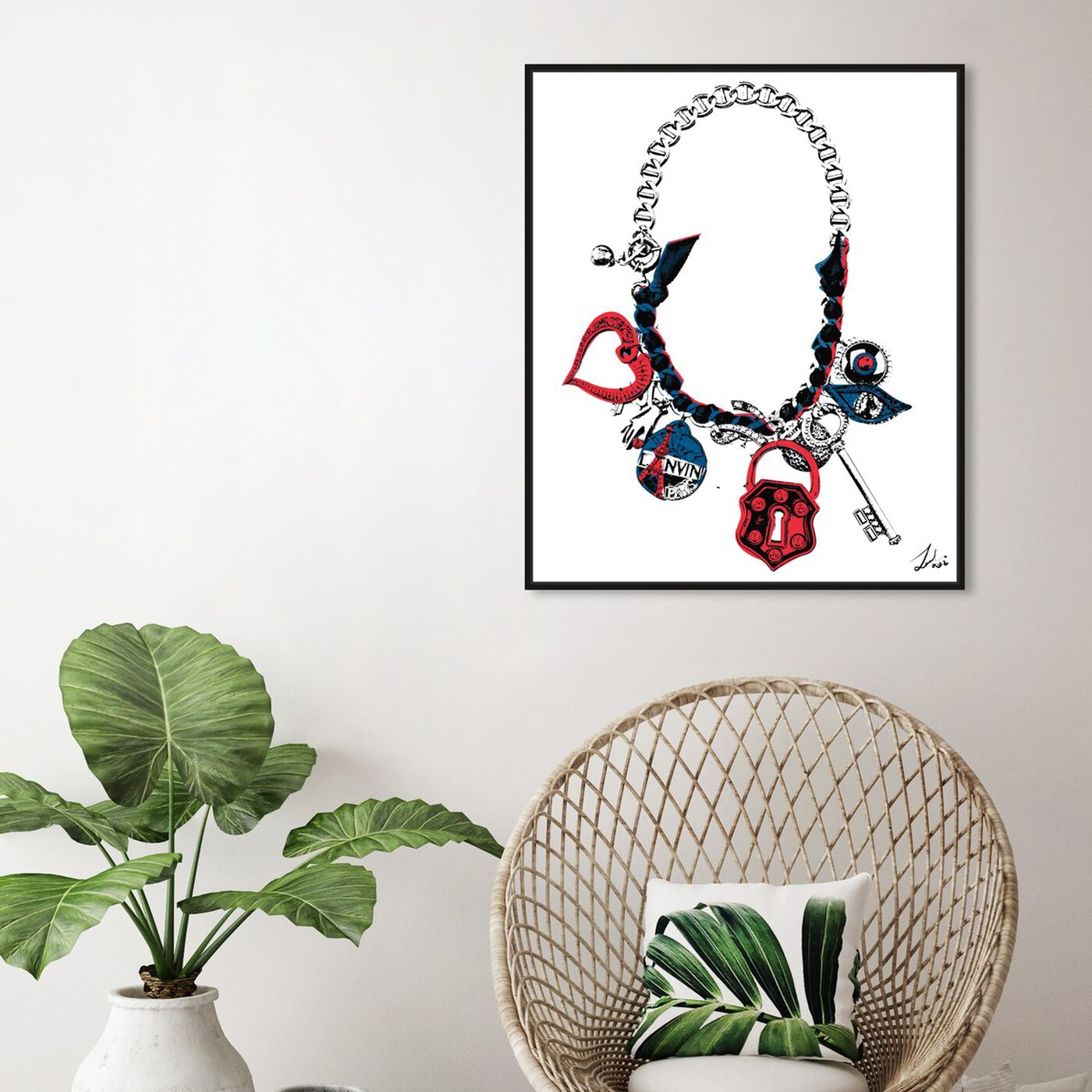 Hanging view of Paris on my Neck featuring fashion and glam and jewelry art.
