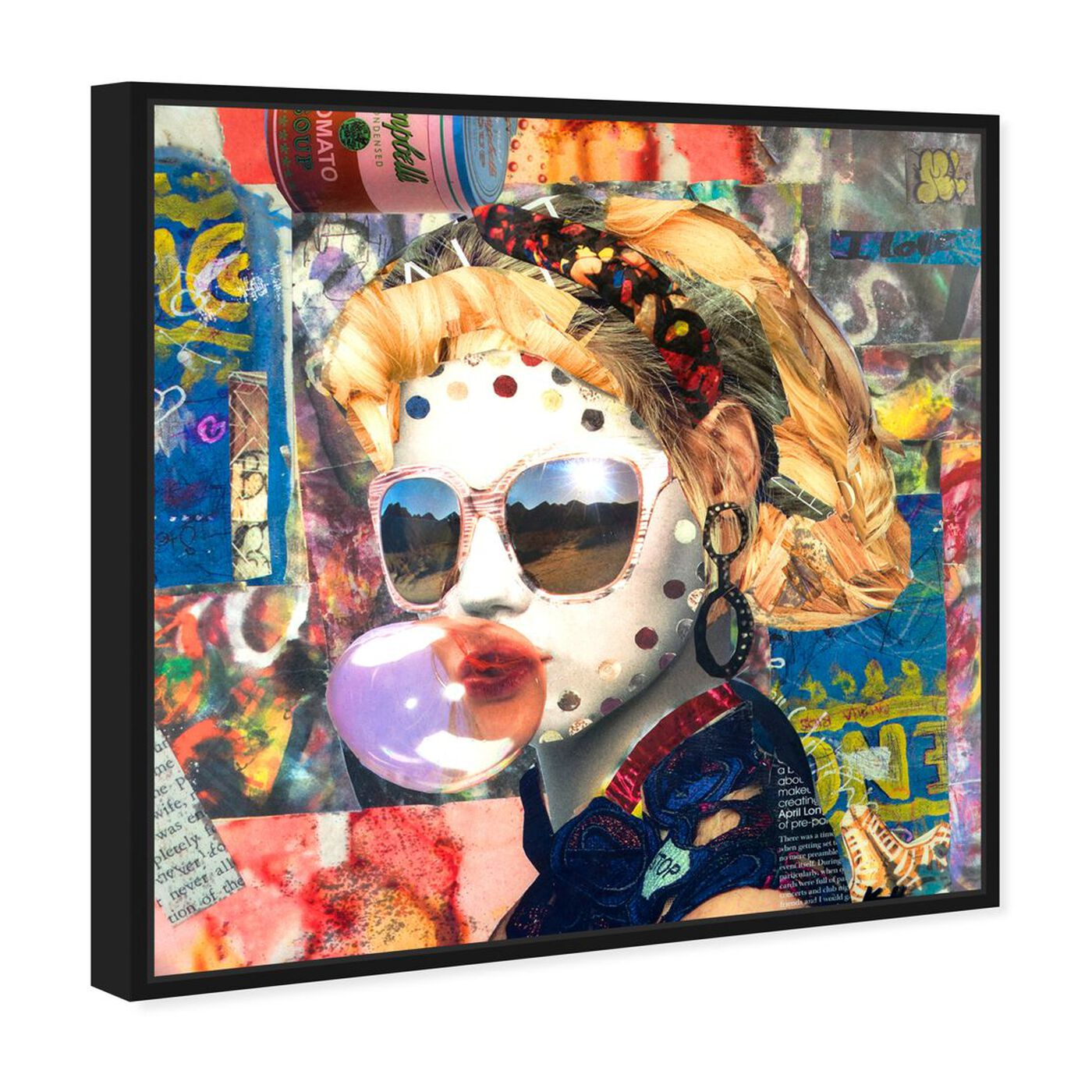 Angled view of Katy Hirschfeld - Bubblegum featuring fashion and glam and portraits art.
