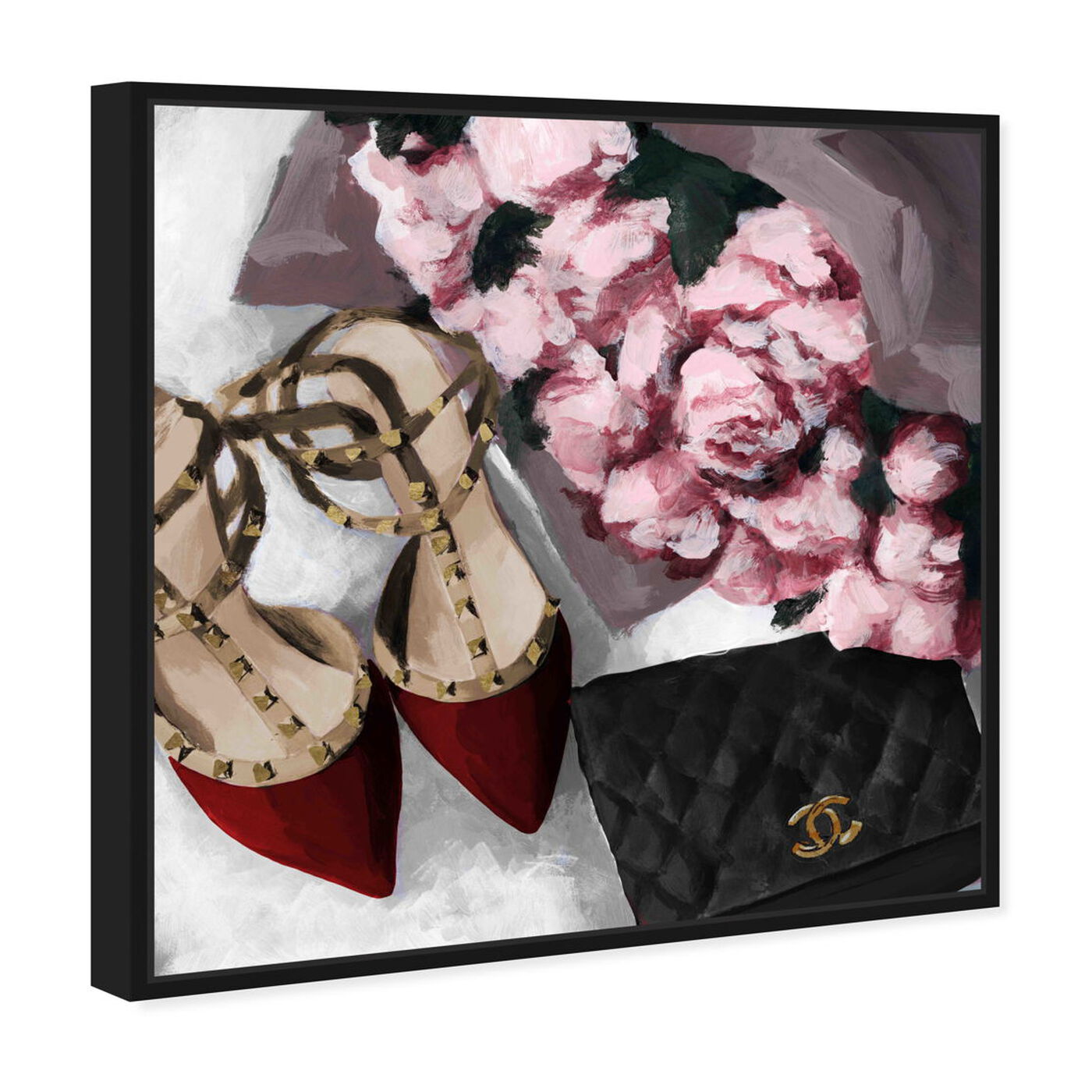 Angled view of All Things Lovely featuring fashion and glam and shoes art.