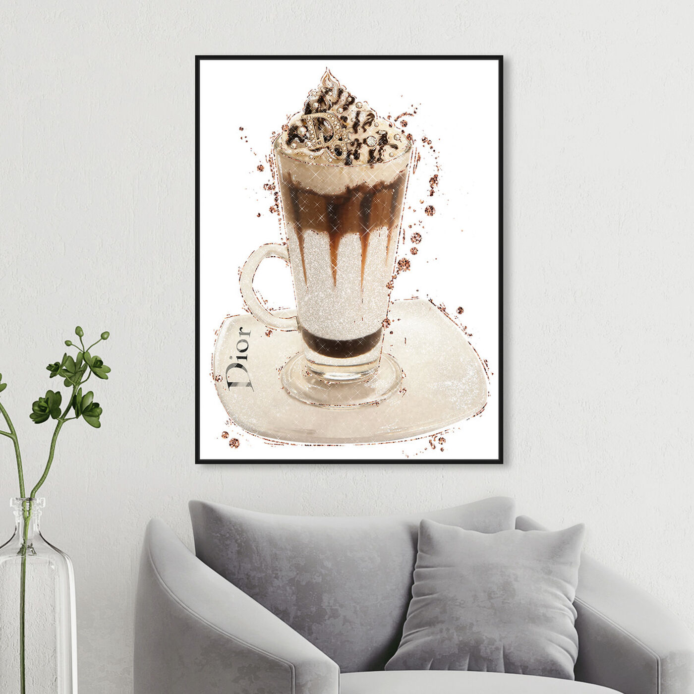 Hanging view of Vanilla Creamy Frappe featuring drinks and spirits and coffee art.