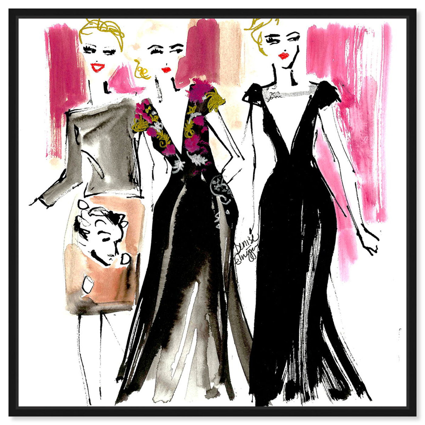 Front view of Denise Elnajjar - Schiaparelli Girls featuring fashion and glam and dress art.