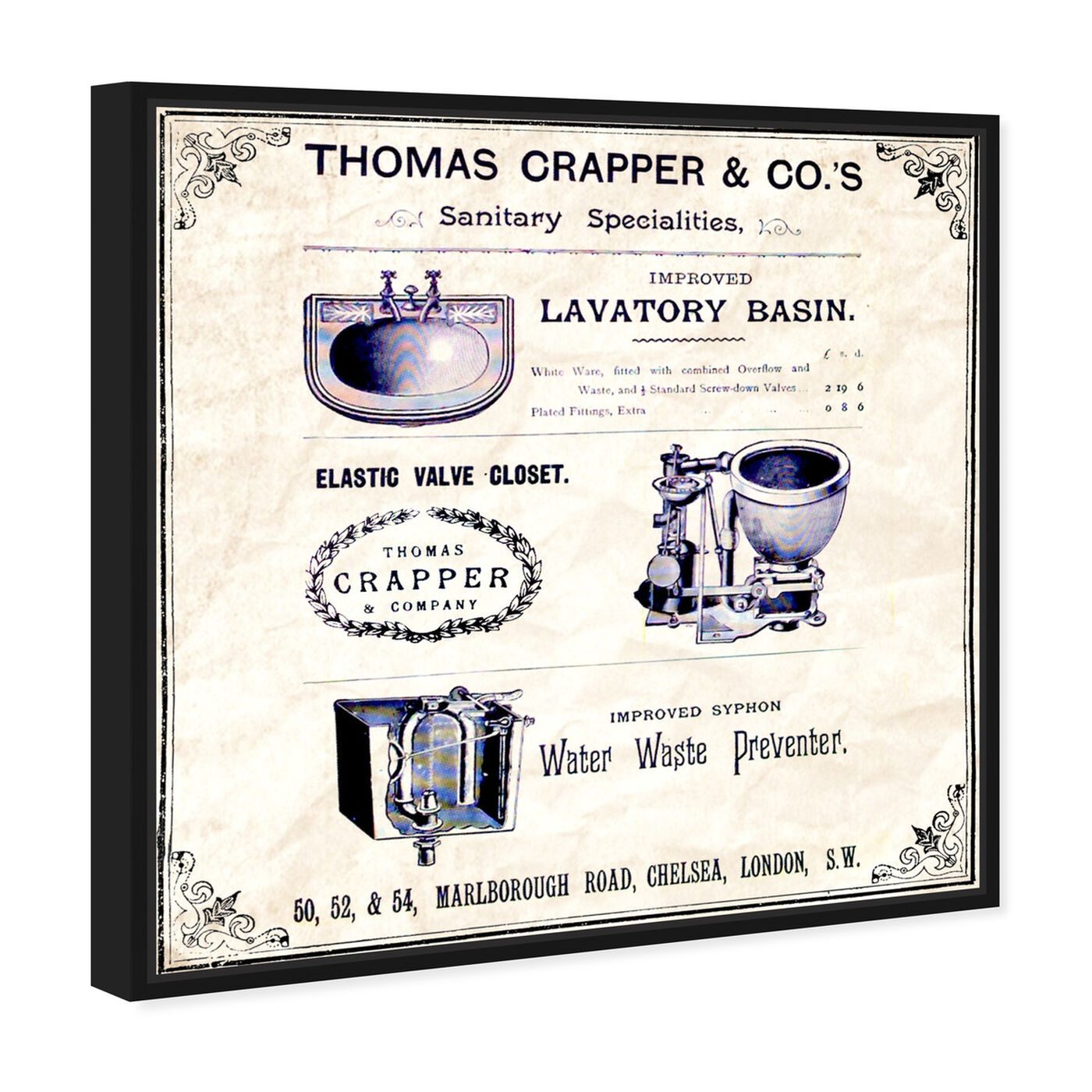 Angled view of Thomas Crapper Inventor of the Toilet featuring bath and laundry and toilets art.