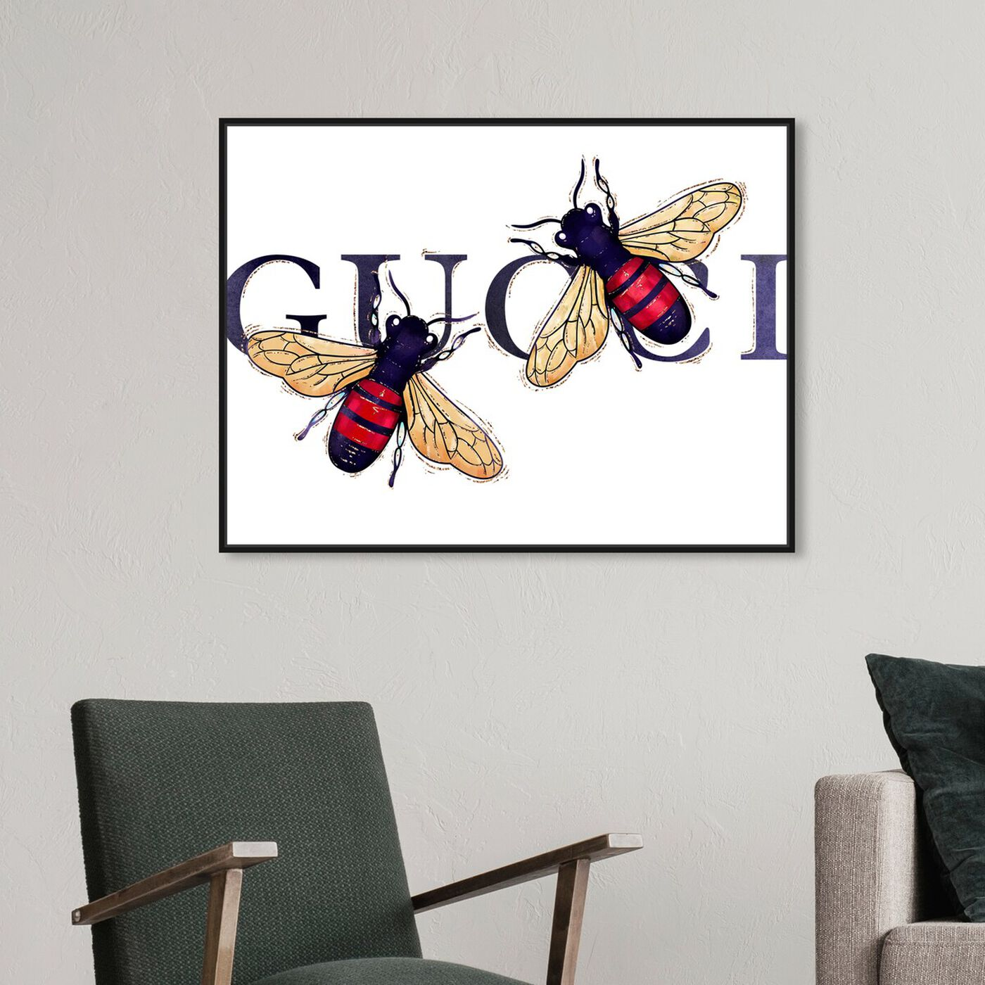 Hanging view of Stylish Bumble Bee Patch featuring fashion and glam and fashion art.